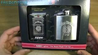 Зажигалка Zippo 28414 Jim Bean Flask Set