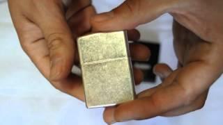 Зажигалка Zippo 121 FB Antique Silver Plate