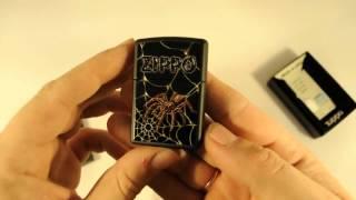 Зажигалка Zippo 218 184 Webs and Spider Black Matte
