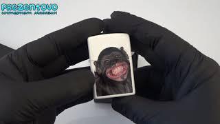 Зажигалка Zippo 28661 Monkey Grin White Matte