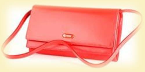 Кожаные кошельки женские красные изображение картинка