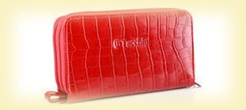 Жіночий шкіряний гаманець на блискавці зображення картинка