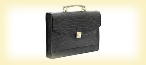 Кожаный портфель изображение картинка