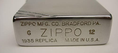 Фото штампу Zippo Replica 1935