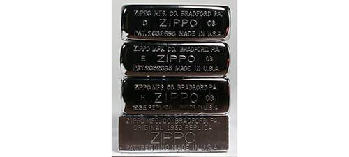 фото штампів всієї лінійки Zippo Rplica